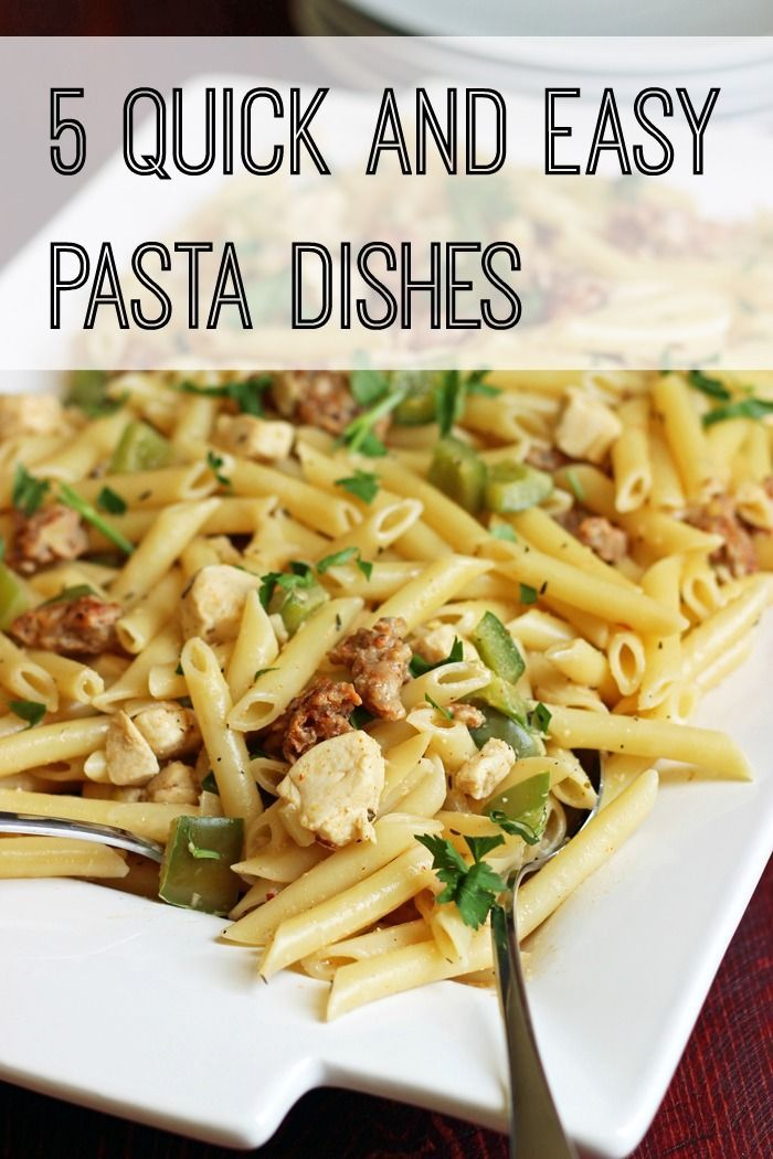 5 Quick And Easy Pasta Dishes Good Cheap Eats Easy Pasta Dishes Cheap Pasta Recipes Easy Pasta Recipes