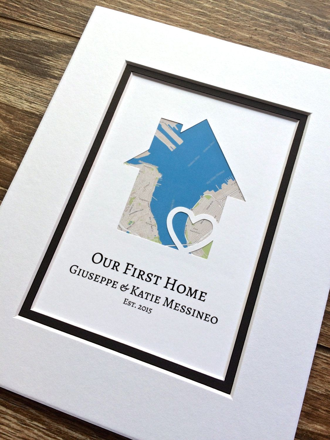 Our First Home Gift For Families Family Gift Personalized Home Is