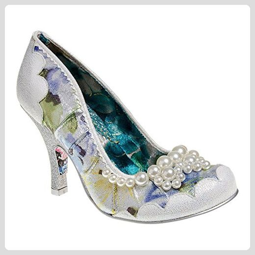 Irregular Choice Pearly Girly Womens Fabric Heels White Floral 40