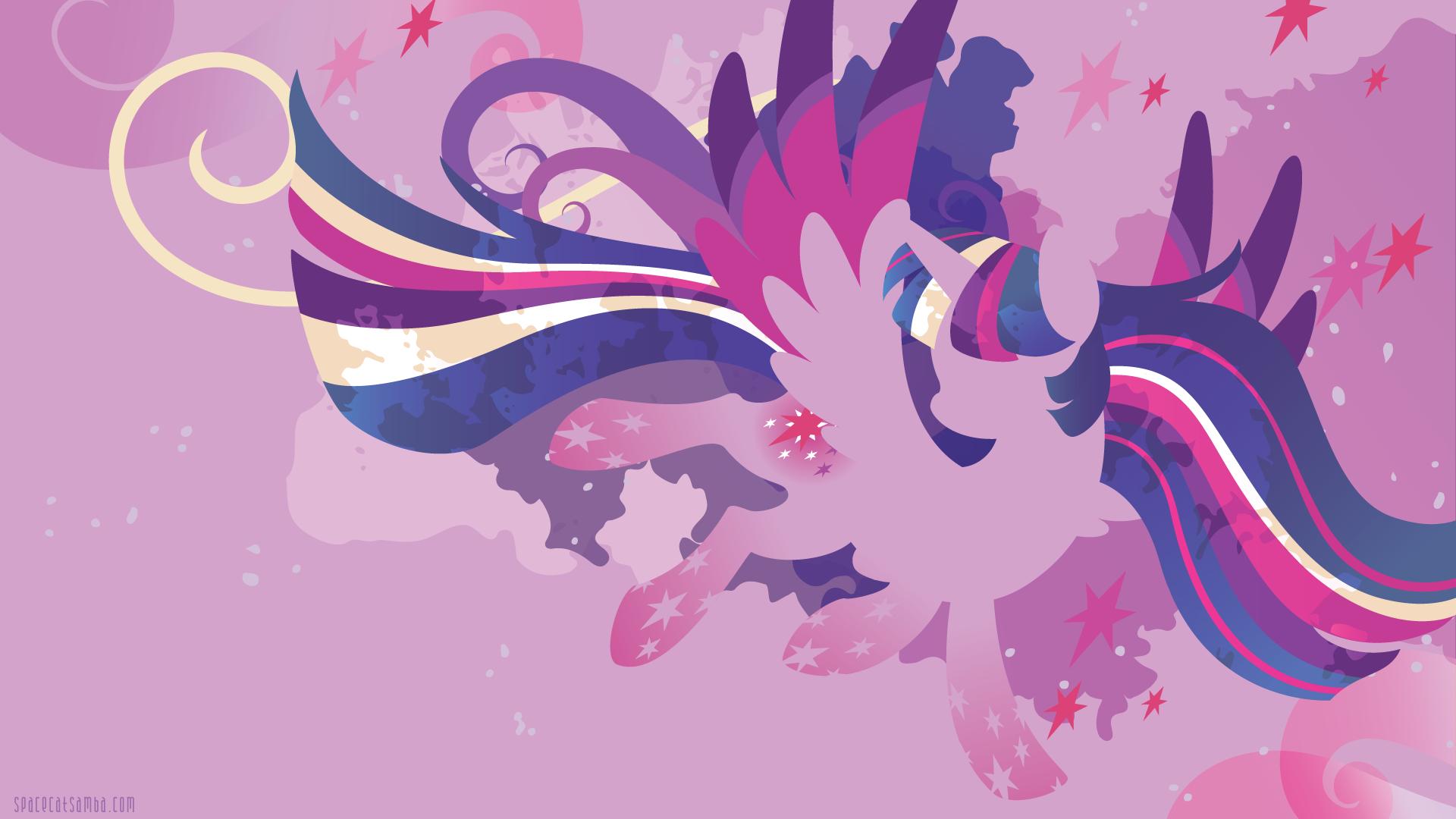 Rainbow Power Twilight Sparkle Silhouette Wall Spacecatsamba Com