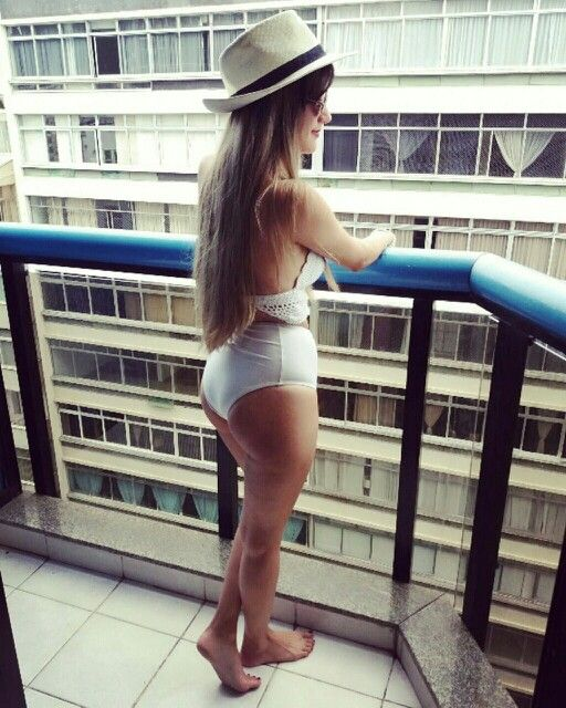 Bikini blanca, white, tiro alto