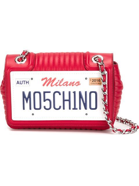 d16e93ef518 Shop Moschino number plate shoulder bag in Vitkac from the world s best  independent boutiques at farfetch.com. Shop 400 boutiques at one address.