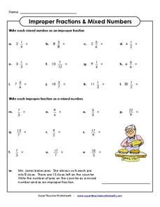 Improper Fractions & Mixed Numbers | Fractions | Pinterest ...