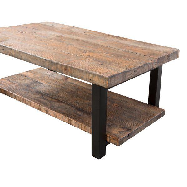 Veropeso 42 Wood Metal Coffee Table Coffee Table Reclaimed
