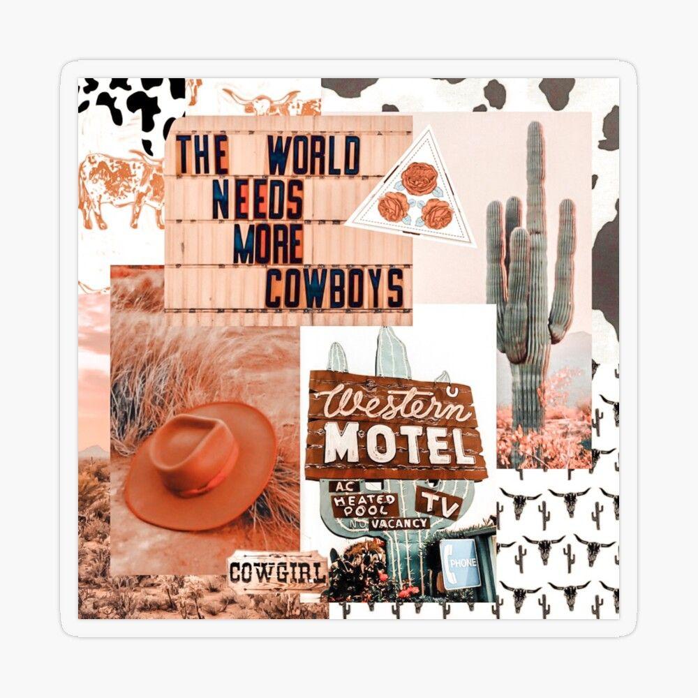 Western, Cowgirl Collage Art | Pinterest, Yeehaw Collage Sticker