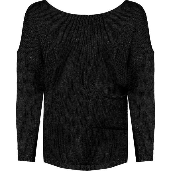 Loise Lurex Knitted Jumper ($39) ❤ liked on Polyvore featuring plus size women's fashion, plus size clothing, plus size tops, plus size sweaters, black, sparkle sweater, jumper top, jumpers sweaters, wet look top and long sleeve sweater