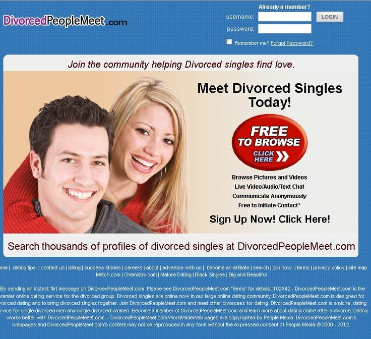 Divorced people dating website