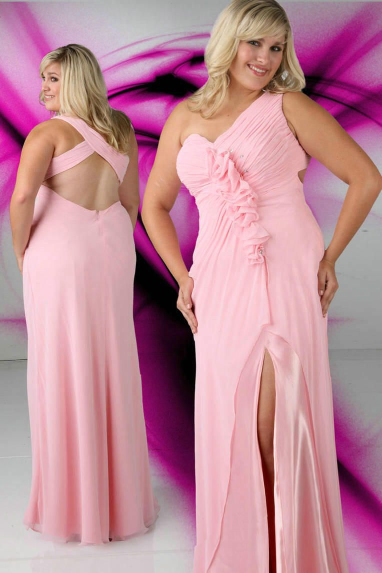 Ruched plus size prom dress