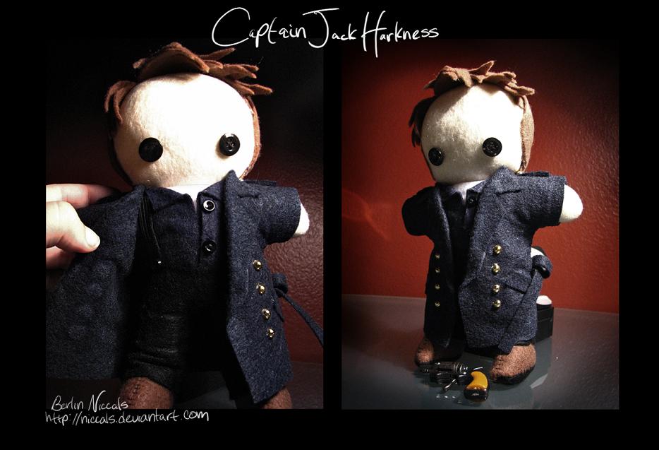 Captain Jack Harkness Plushie by *niccals on deviantART (uhh-dorable)