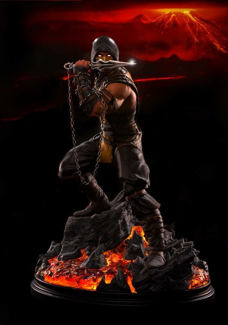 First Picture Of The Upcoming 1 4 Mortalkombatx Scorpion Statue