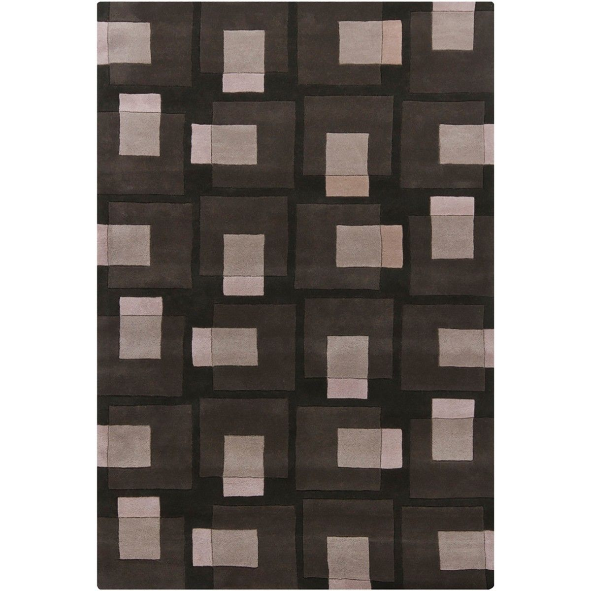 Halston Rug in Black  /  Gray  /  Ivory