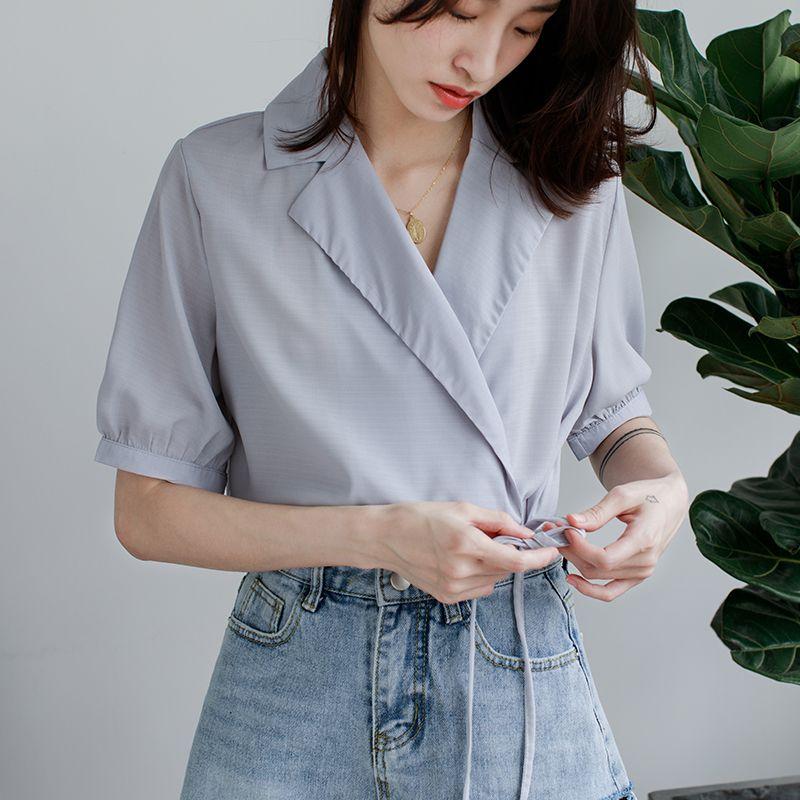 39bf056e96f Купить товар EGGKA 2018 сезон  весна–лето модная блуза Для женщин s  отложной воротник