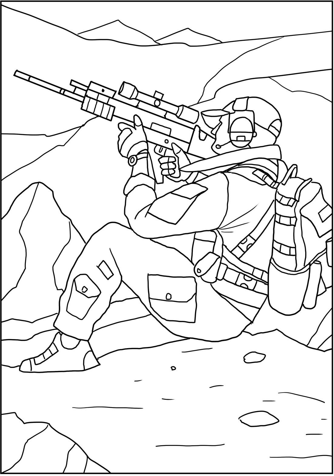 Action scenes with USA special forces. New coloring book