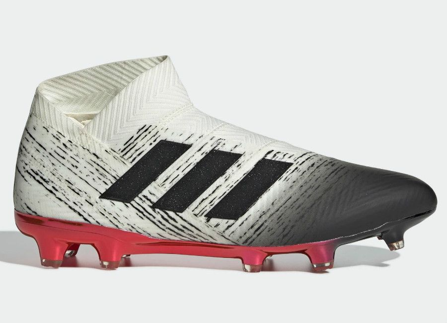 super popular 5013c 46000  adidasfootball  footballboots Adidas Nemeziz 18+ Agility FG Initiator -  Off White   Core Black   Active Red