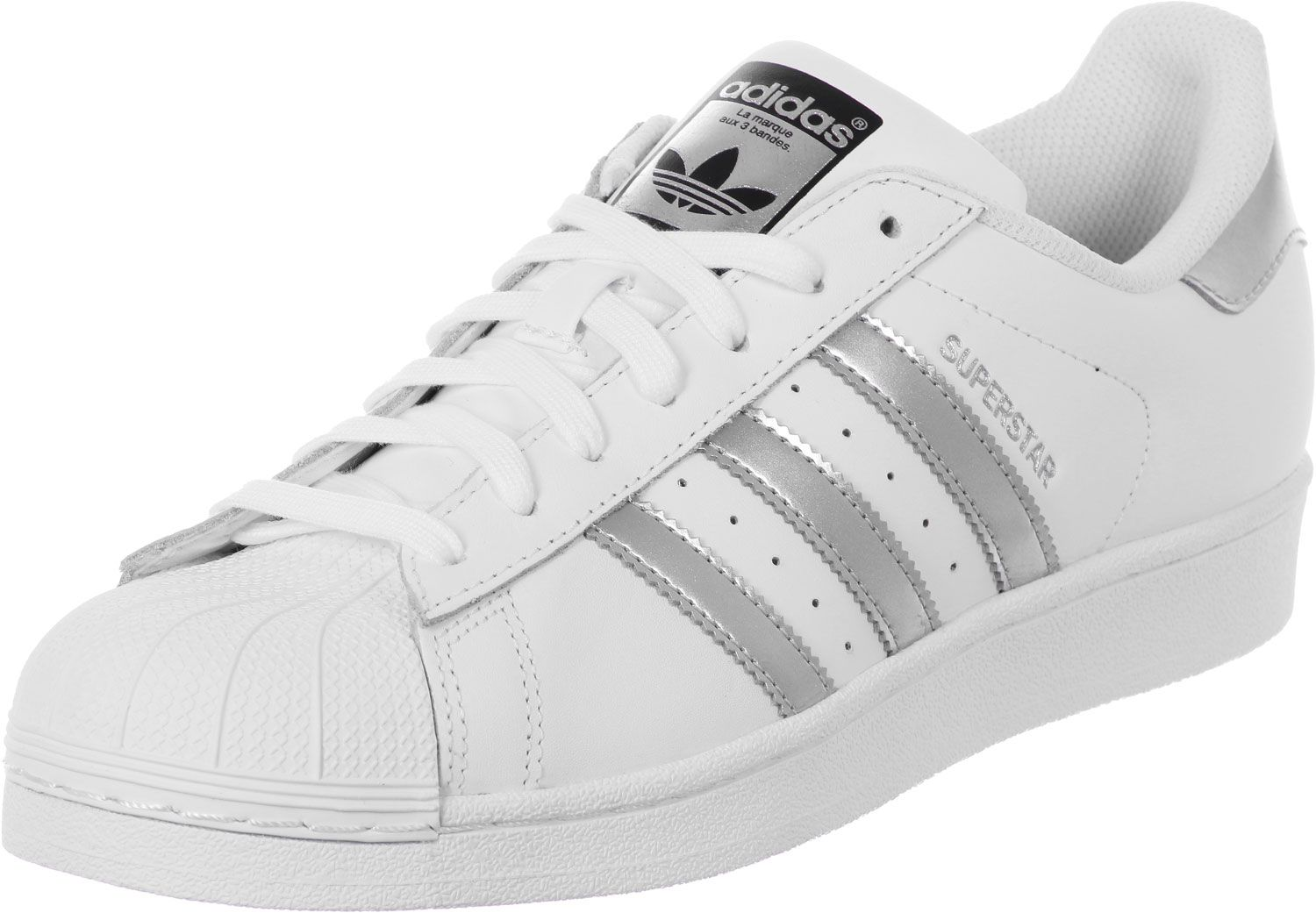 Superstar W shoes white silver adidas