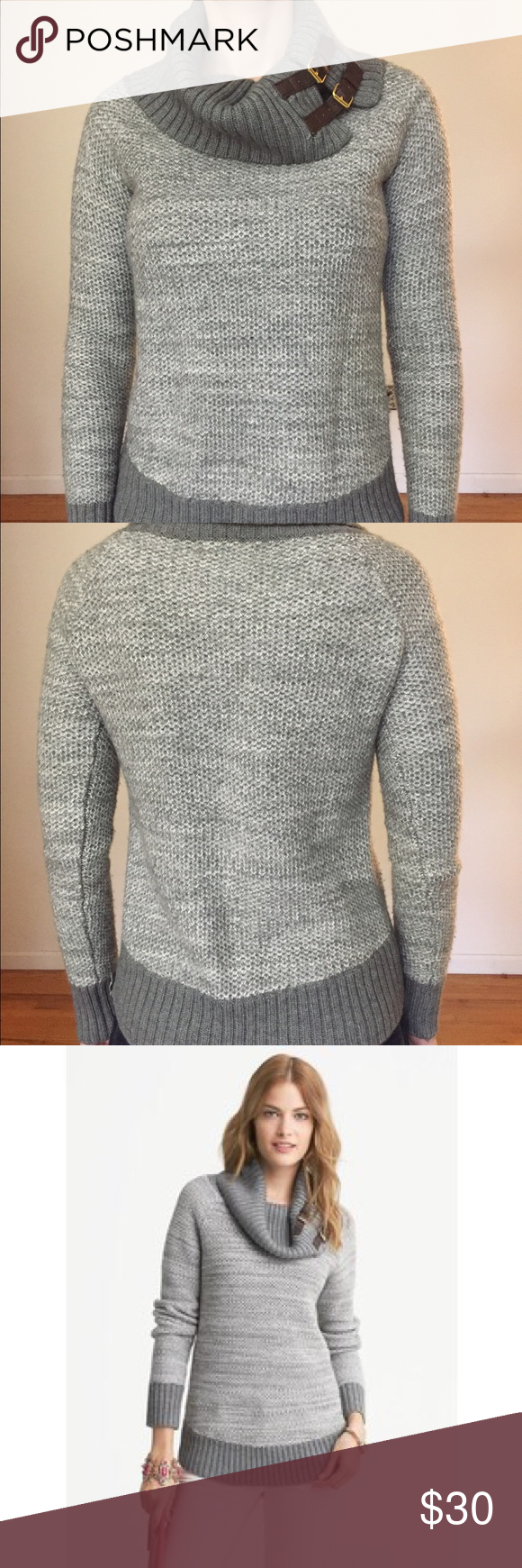 Banana Republic Cowlneck sweater made from Italian yarn, unique ...