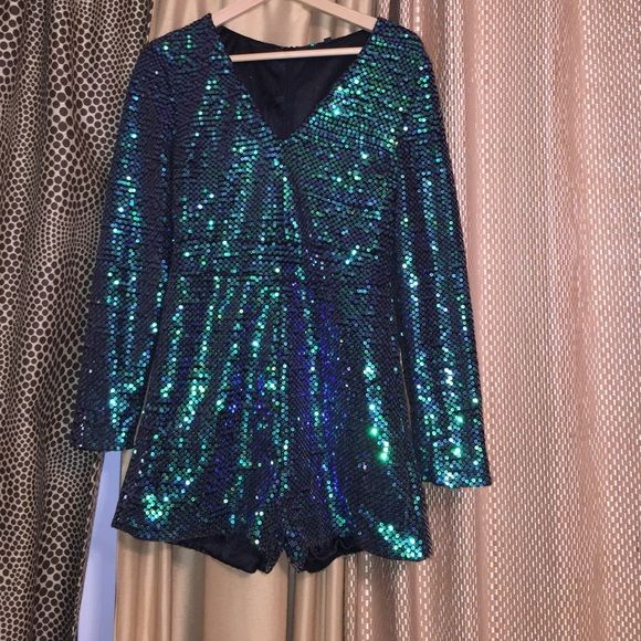451d22e040a5 Jumpsuit Green iridescent sequins jumpsuit Pants Jumpsuits   Rompers ...