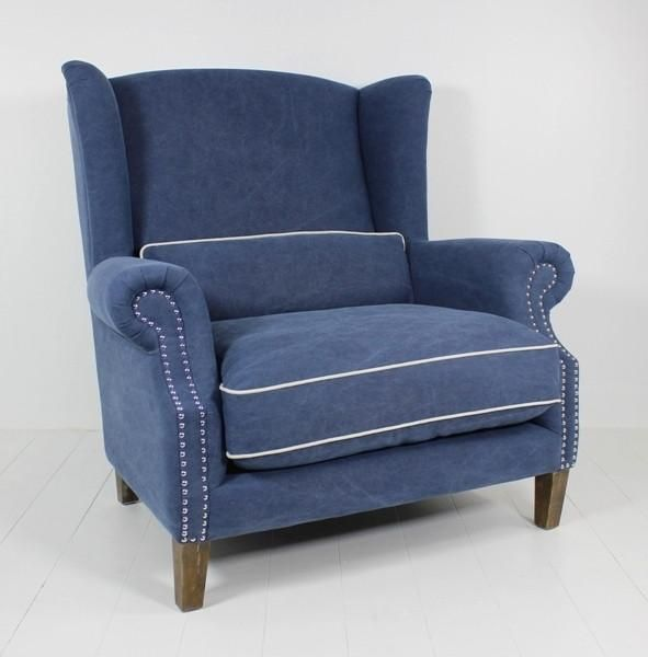 Majestic 1.5 Seater Wing Chair In Navy | Love chair, Big ...