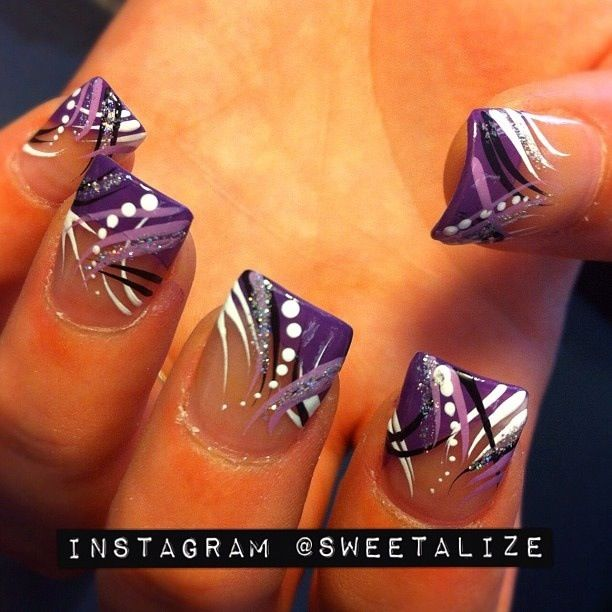 Freestyle Purple Nail Designs, Cute Acrylic Nail Designs, Cool Nail Designs,  Line Nail - Freestyle Nails In 2018 Pinterest Nail Art, Nails And Nail Designs
