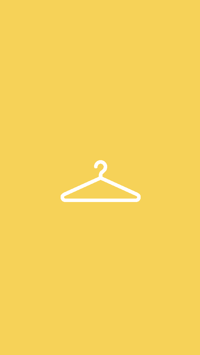 Yellow Hanger Instagram Story Highlights Template Instagram