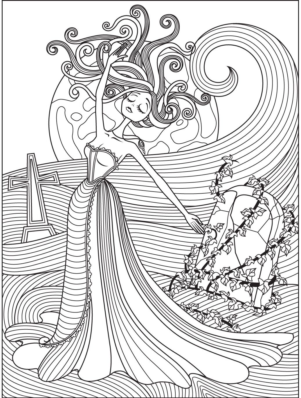 Halloween coloring page | Colorish: free coloring app for adults ...
