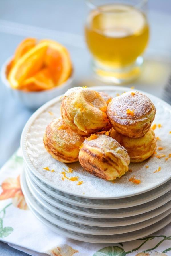 Photo of Orange-Cream Ebelskivers – Danish-style Filled Pancakes Recipe | ChefDeHome.com