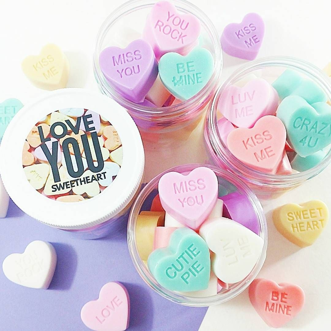 Gift your little sweetheart these adorable conversation soap hearts