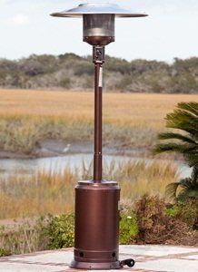 Amazon.com: Fire Sense Hammer Tone Bronze Commercial Patio Heater: Patio,  Lawn