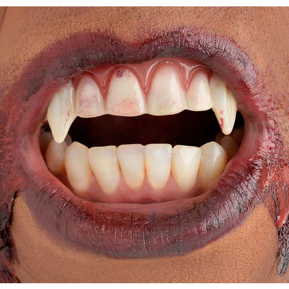 Vampire Fangs Teeth Tooth Cap Fright Night Werewolf Fangs Halloween Scary