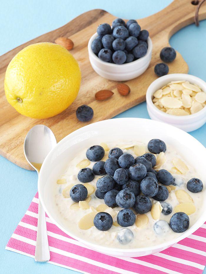 Blueberry Lemon Overnight Oats | The Breakfast Drama Queen