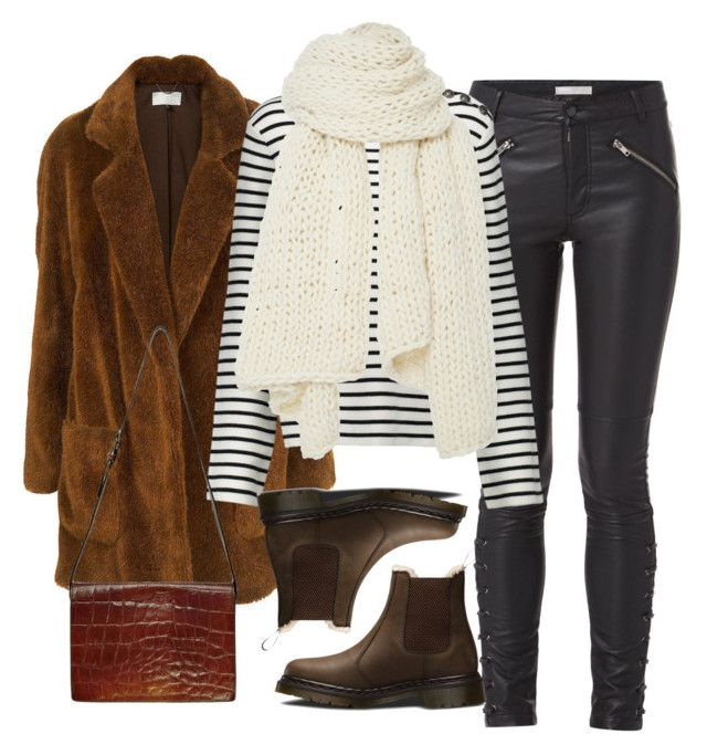 """""""Untitled #2028"""" by adoresarah ❤ liked on Polyvore featuring Minimum, Maje, I Love Mr. Mittens, Dr. Martens and Jean-Paul Gaultier"""