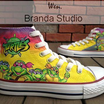 Teenage Mutant Ninja Turtles Shoes Studio Hand Painted