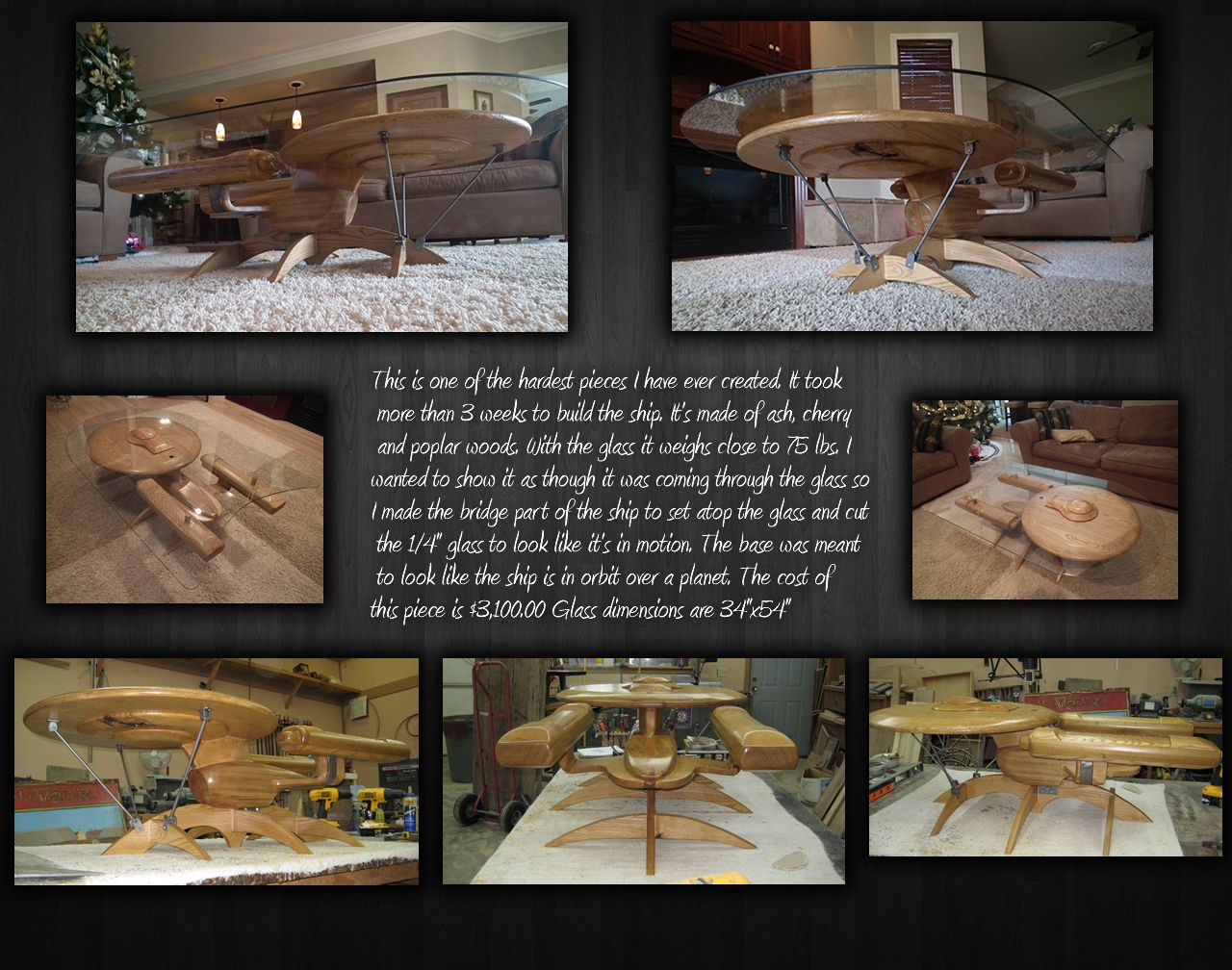 Geeky Coffee Tables Amazing Geek Out With A Custom Made Fine Woodwork Star