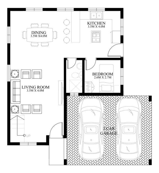 PLAN DESCRIPTION Modern house design MHD2014012 is a 4 bedroom