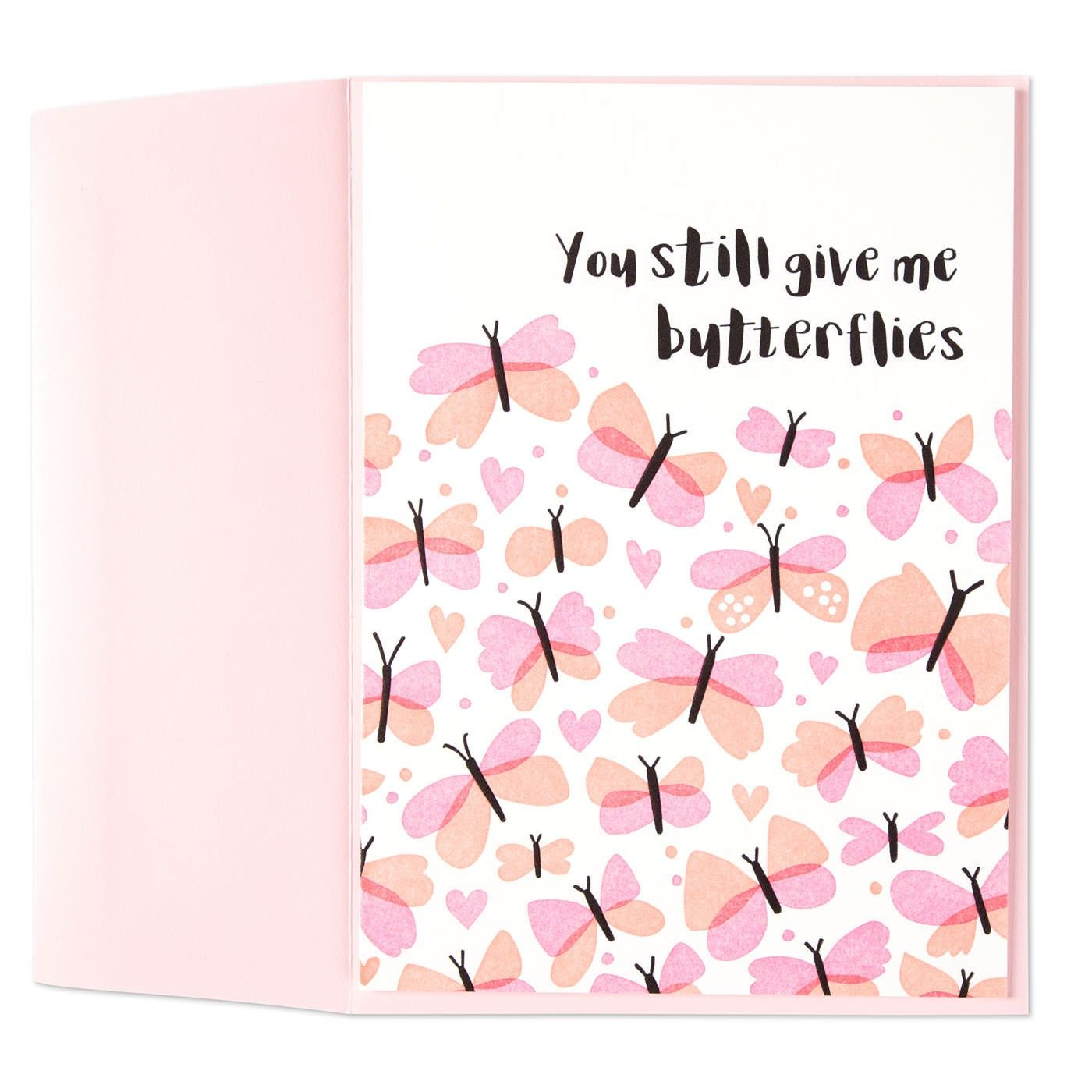 Give Me Butterflies Anniversary Card Anniversary Cards Give It To Me Love Cards
