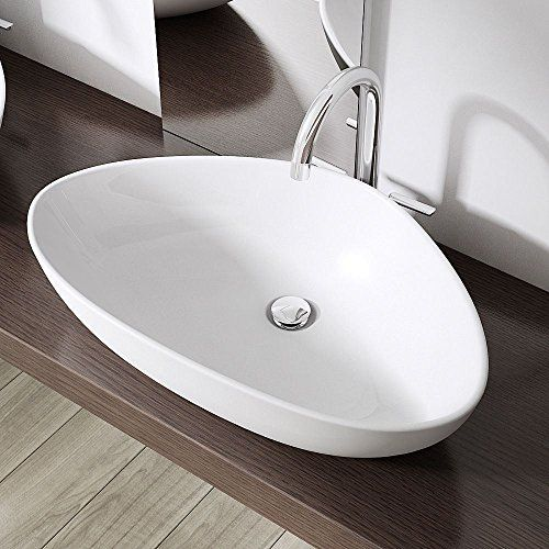 Best Durovin Luxury Oval Bathroom Ceramic Countertop Wash Basi 400 x 300
