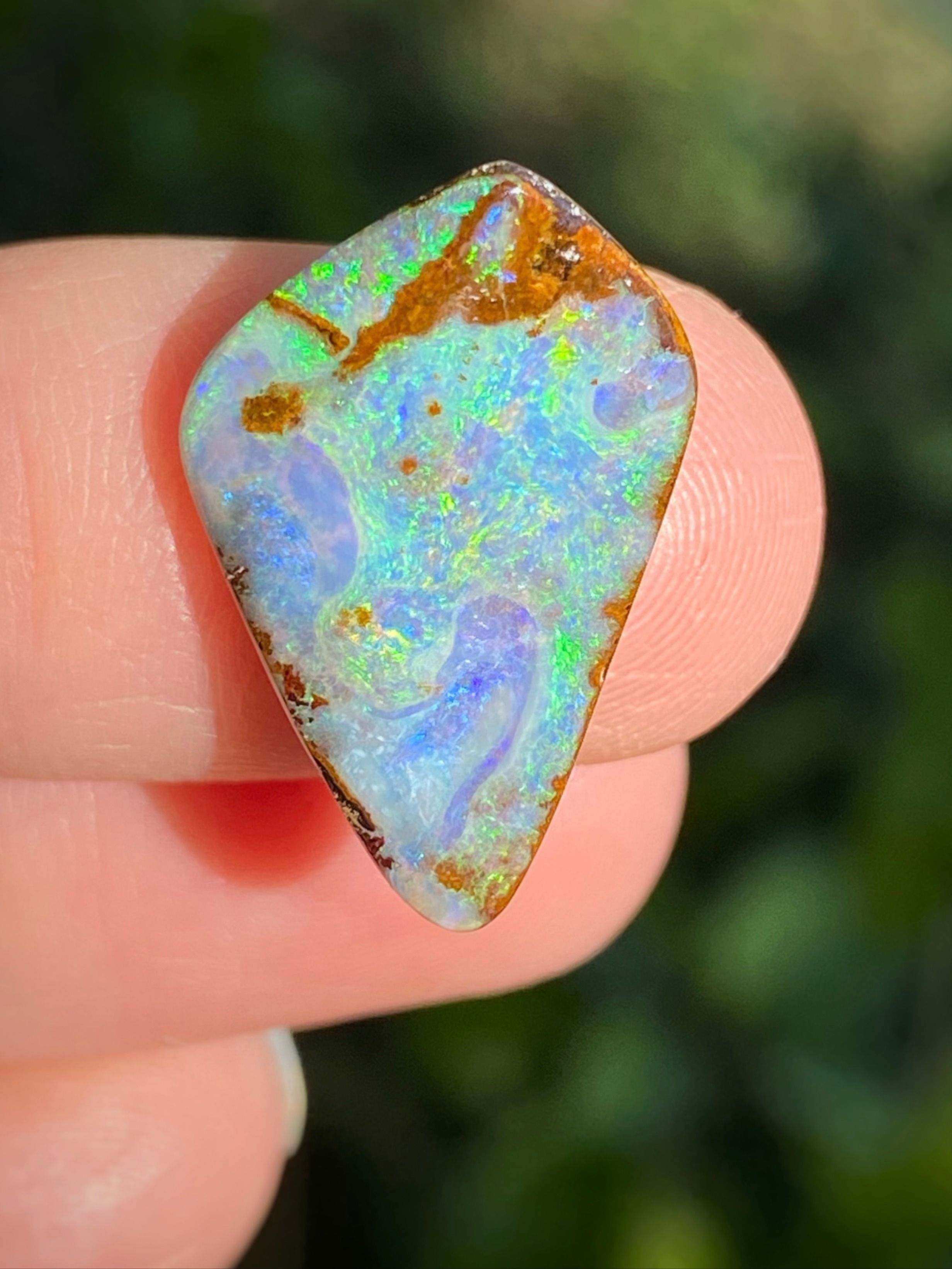 Boulder Opal Natural stone Queensland Australia jewelry, creation, collection, gift..