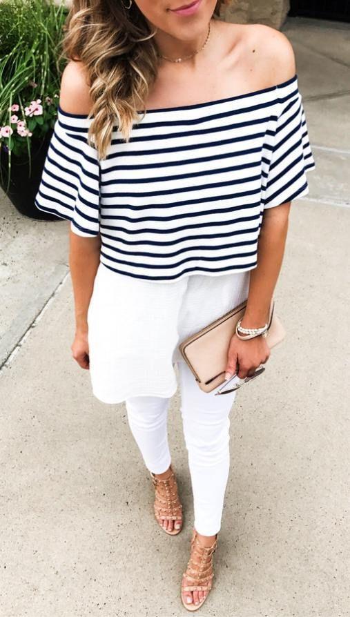 Plus de 40 superbes idées de tenues d'été à copier maintenant #summerdinneroutfits