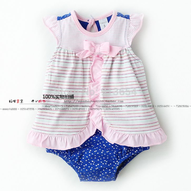 >> Click to Buy << new 2017 summer baby clothes newborn short sleeves bodysuits dress baby girl striped triangle creepers child jumpsuit #Affiliate