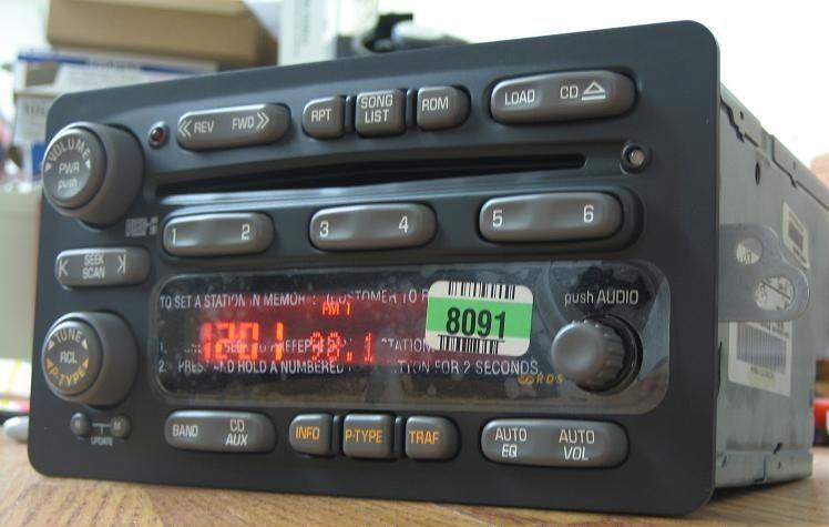 New 2001 2005 Pontiac Montana Aztek 6 Disc Cd Changer Radio Unlocked 01 02 03