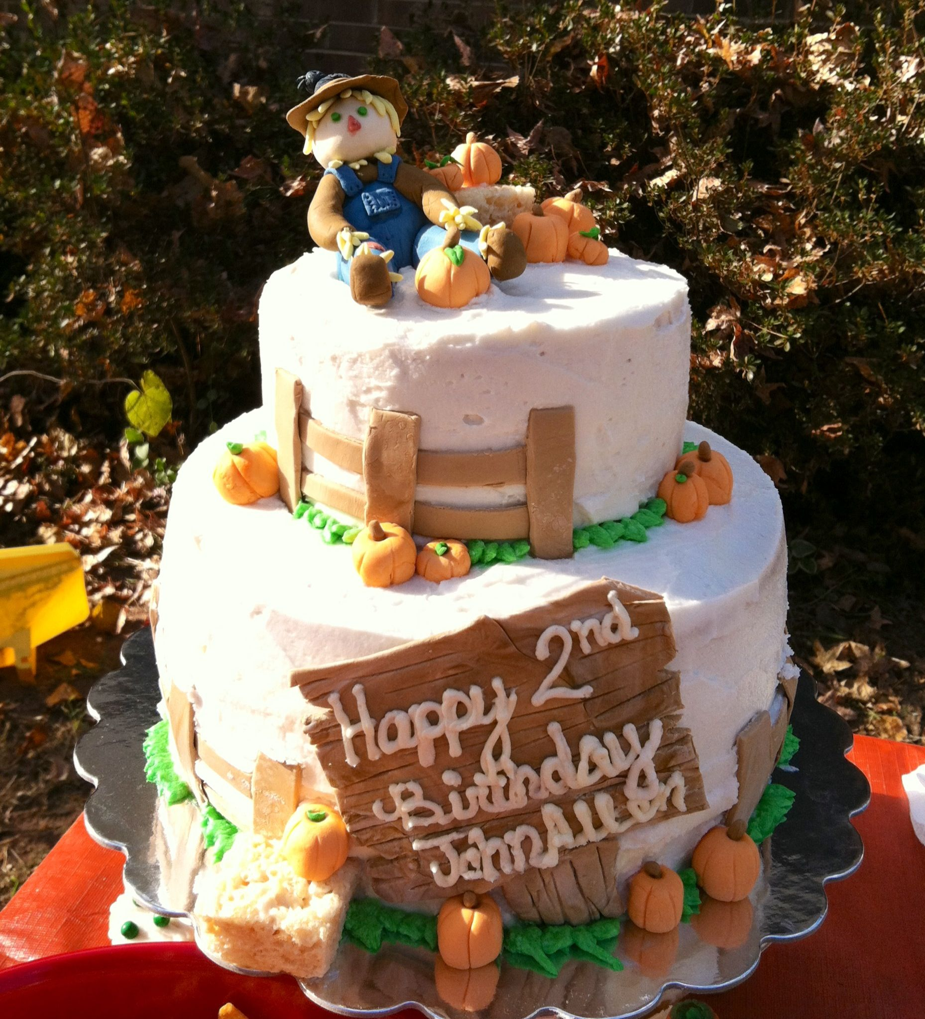 Fall Themed Birthday Cake Love The Pumpkins And Sign John