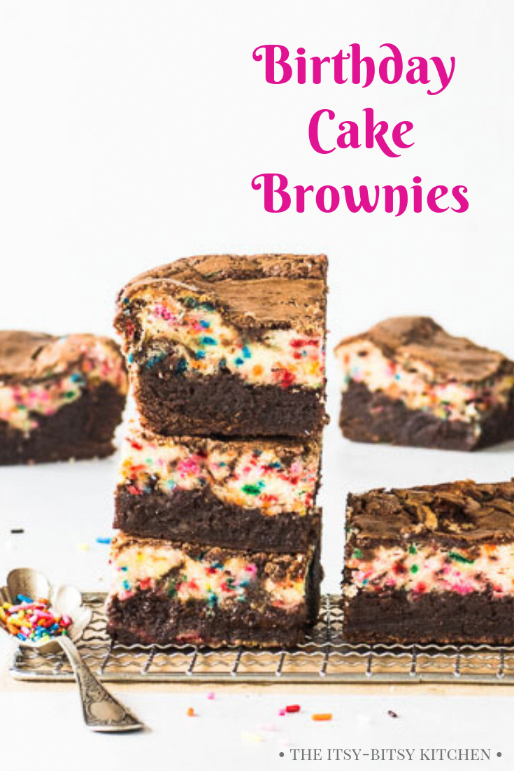 Birthday cake brownies are EASY to make and they're a delicious treat for people who love chocola