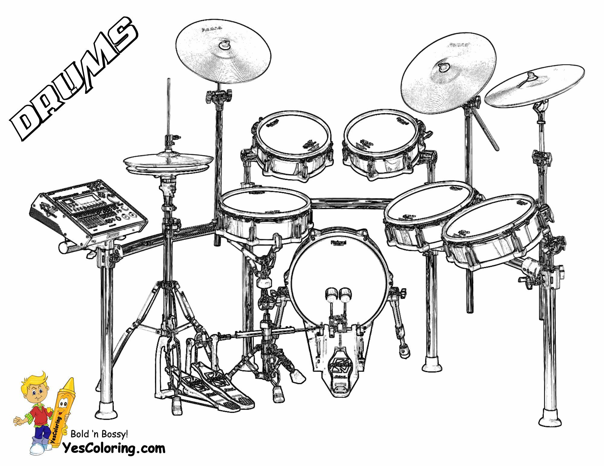 Majestic Musical Drums Coloring Drums Drum Lessons Music