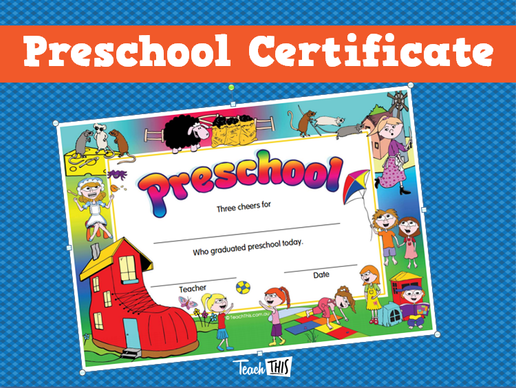 Preschool Certificate | Student Awards | Pinterest | Students and ...