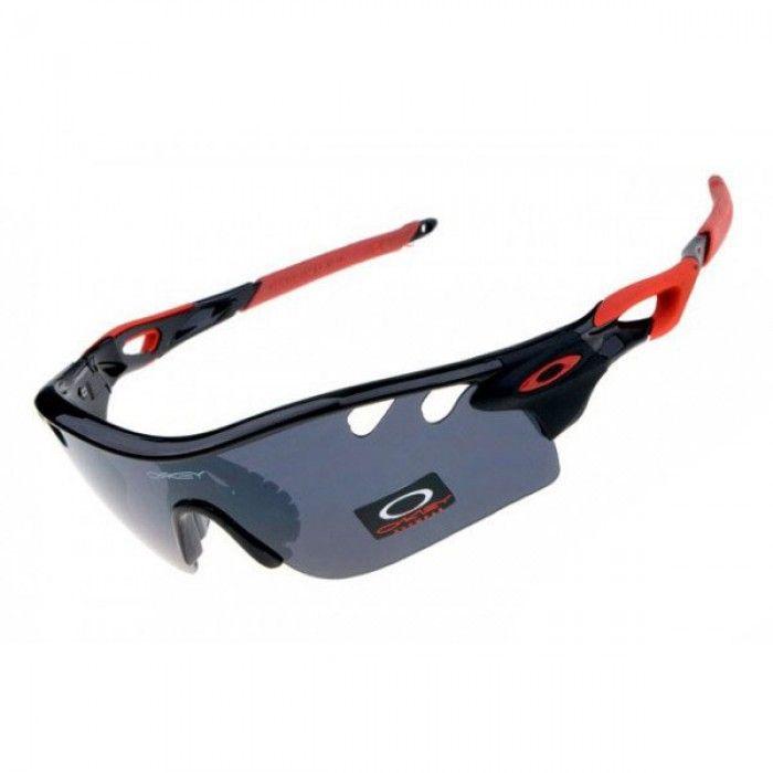 d4b61998429a0 Oakley Radarlock Path Sunglasses Black Red Frame Grey Lens