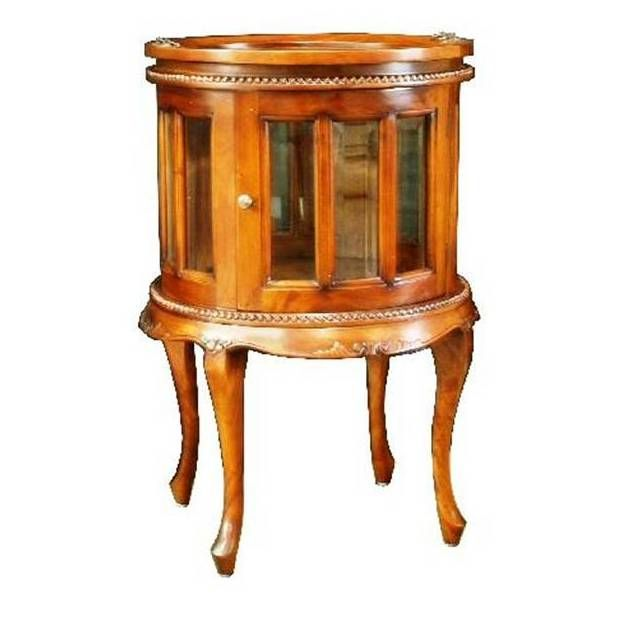 Victorian Style 19th Century Small Round Drinks Cabinet Made From Solid Mahogany The Top CabinetDining Room