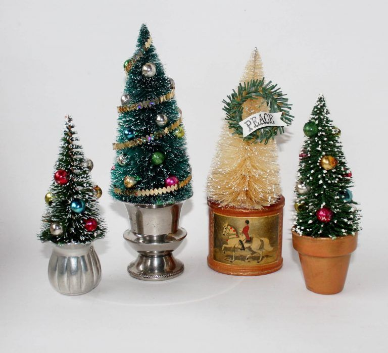 10 Bottle Brush Tree Decorating Ideas Adirondack Girl Heart Bottle Brush Christmas Trees Vintage Christmas Crafts Christmas Ornaments