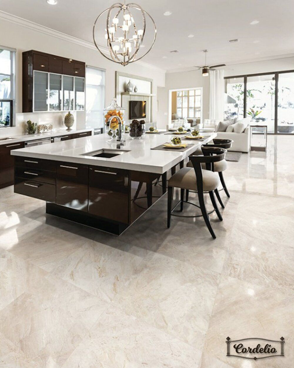Cordelio 12 X 12 Marble Mosaic Wall Floor Tile In 2020 Kitchen Design Open Dream Kitchens Design Kitchen Decor