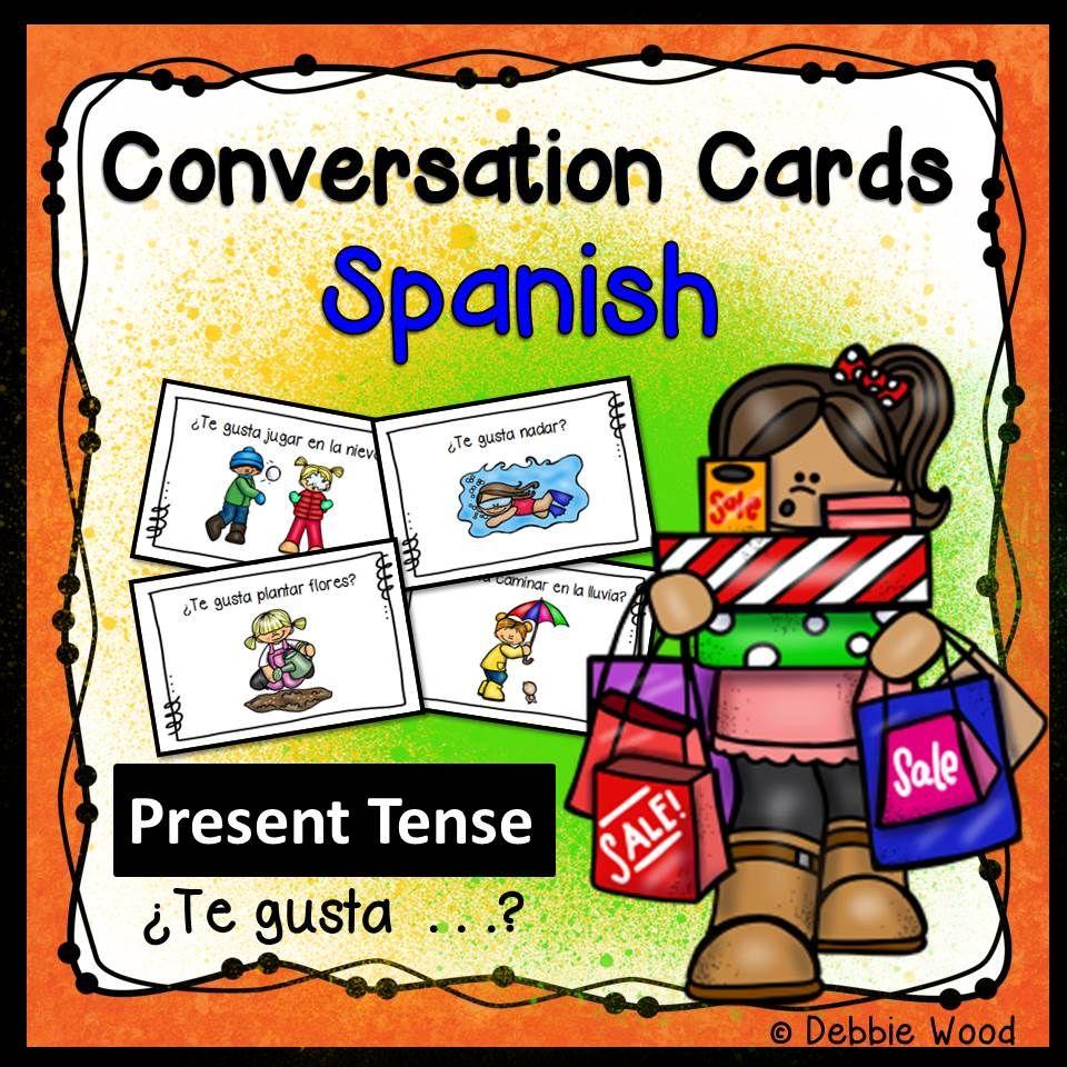 Spanish Gustar Conversation Cards How To Speak Spanish Spanish [ 960 x 960 Pixel ]