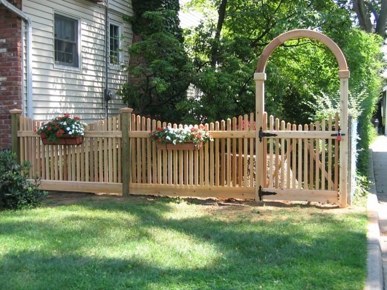 Zaune Und Tore Metall Fur Garten Fence Design Backyard Fences